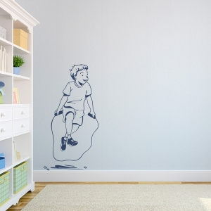 Jump Rope Boy Wall Decal