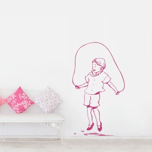 Jump Rope Girl Wall Decal
