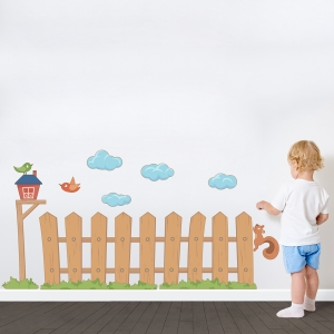 Kids Picked Fence Printed Wall Decal