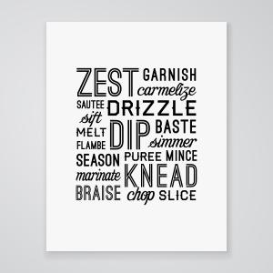Kitchen Verbs- Art Print