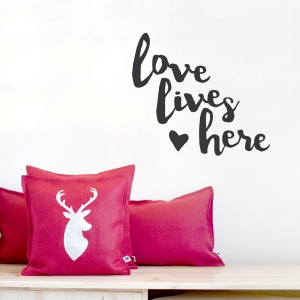 True Love Story Black  Wall Quote Decal