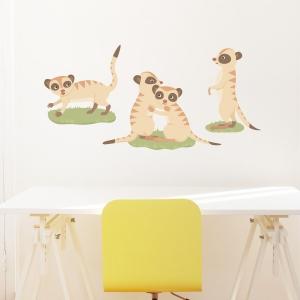 Meerkat Family Printed Wall Decal