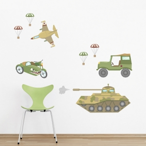 Military Cars Printed Wall Decal