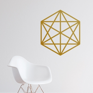 Octahedron Wall Decal