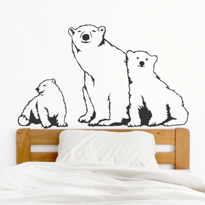 Polar Bear Family Wall Decal