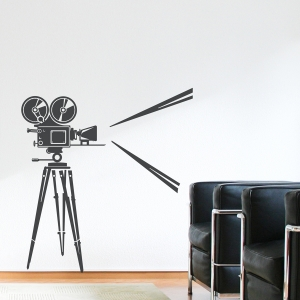 Retro Film Camera Wall Decal
