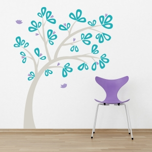 Ribbon Tree Wall Decal