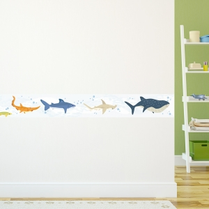 Sharks Removable Wallpaper Border