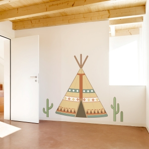 Southwestern Tepee Printed Wall Decal