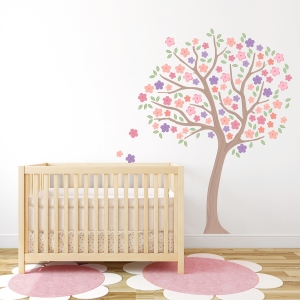 Spring Cherry Blossom Tree Printed Wall Decal