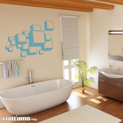 3d Squares wall decal