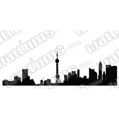 Beijing China Skyline Vinyl Wall Art Decal