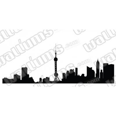 Beijing China Skyline Vinyl Wall Art Decal