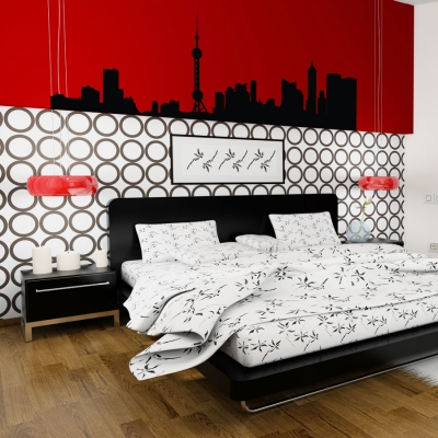 Beijing skyline wall decal