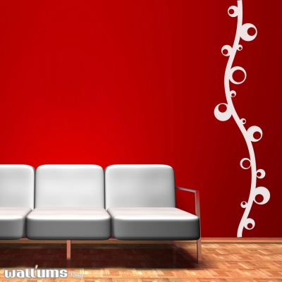 Strand of bubbles wall decal