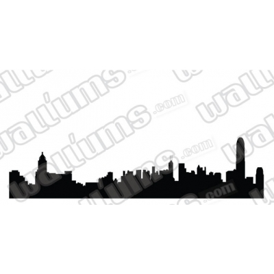 Hong Kong Skyline Vinyl Wall Art Decal