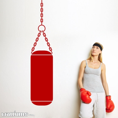 Gym Punching bag wall decal