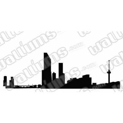 Rotterdam Netherlands Skyline Vinyl Wall Art Decal