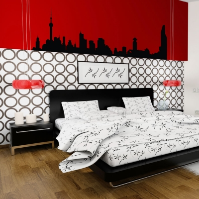 Shanghai china wall decal