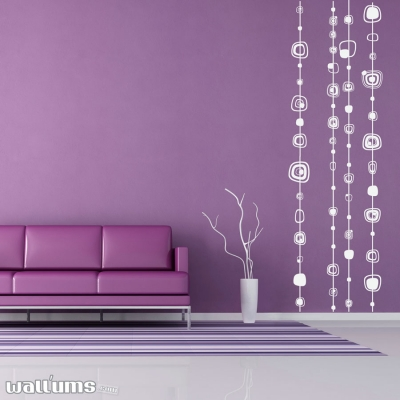 Strings squared wall decal