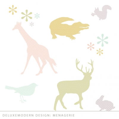 deluxemodern design Menagerie   wall art decals