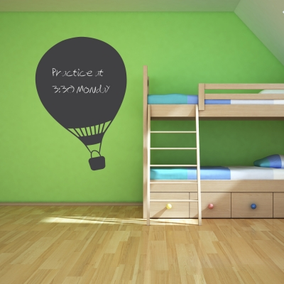 Hot Air Balloon Chalkboard Wall Art Decal