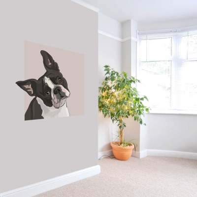 Boston Terrier Dog Wall Decal
