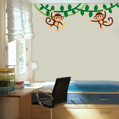 Monkey Jungle Wall Decal