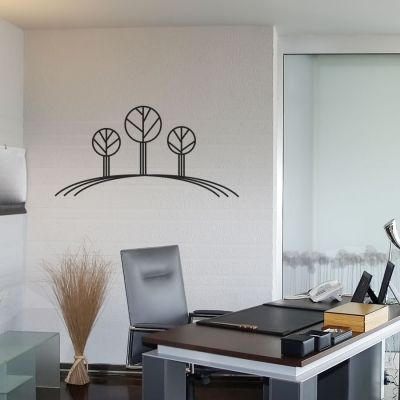 Line Trees Wall Decal