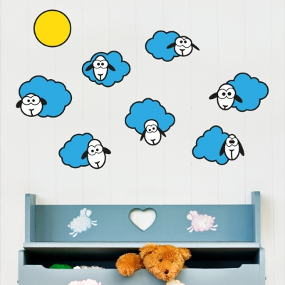 Cloud Sheep Wall Decal