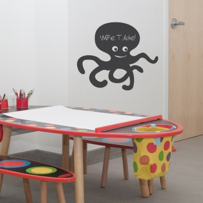 Octopus Chalkboard Wall Art Decal