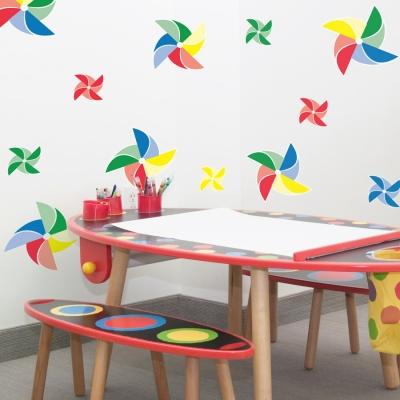 Pinwheels Wall Art Decals