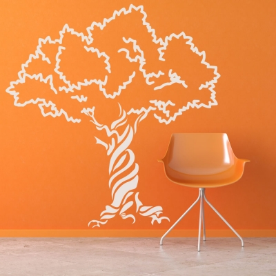 Twisted Tree Wall Decal