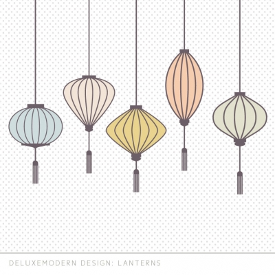 deluxemodern design lanterns wall decals
