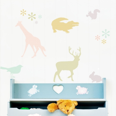 Deluxemodern Menagerie Wall Decal Set