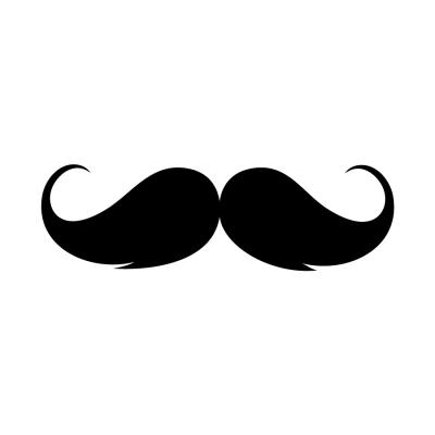 Mustache Wall Art Decal Sticker
