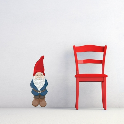 Garden Gnome Printed Wall Decal
