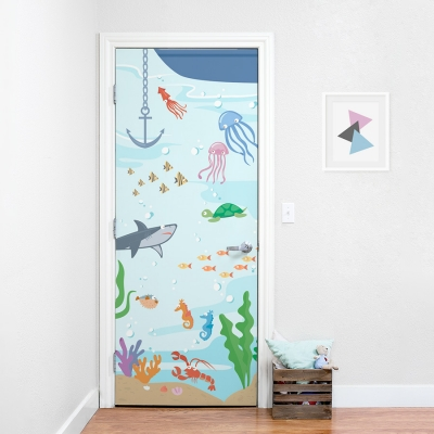 Under The Sea Door Mural
