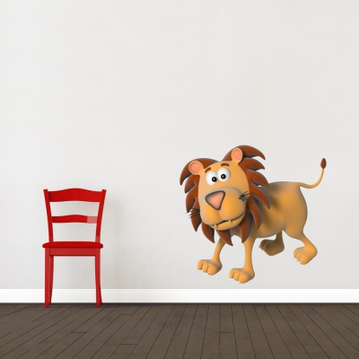 3D Lion Printed Wall Decal