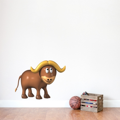 3D Buffalo Printed Wall Decal