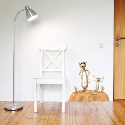3D Meerkat Printed Wall Decal