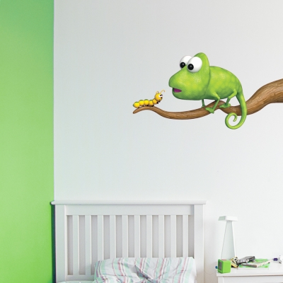 3D Chameleon Wall Decal
