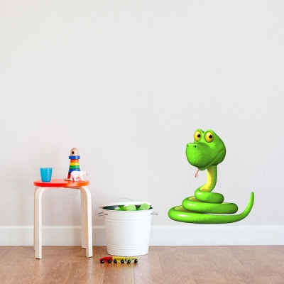 3D Twisty Snake Wall Decal