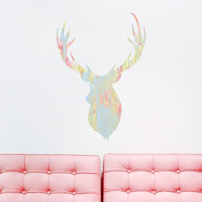 Buck Head Printed Wall Decal