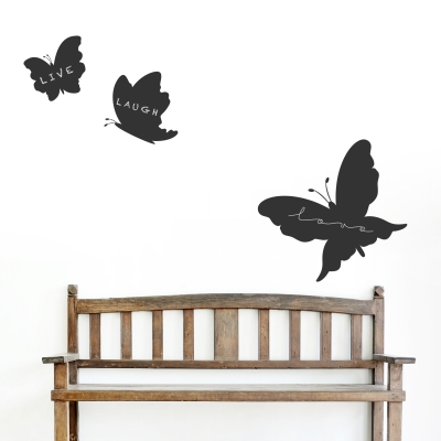 Butterfly Chalkboard Set Wall Decal