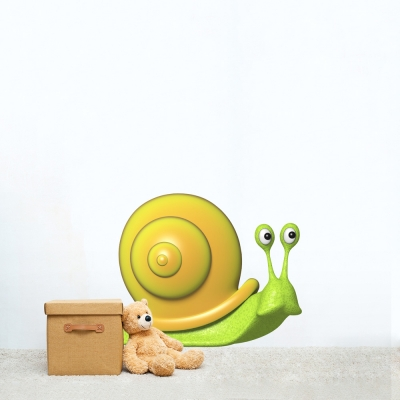 3D Snail Printed Wall Decal