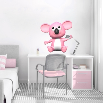 3D Koala Printed Wall Decal