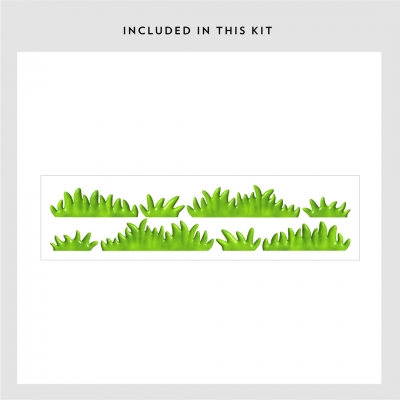3D Grass Sample Wall Decal Kit