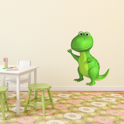 3D T-Rex Dinosaur Printed Wall Decal