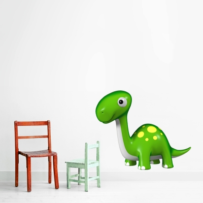 3D Baby Dinosaur Printed Wall Decal